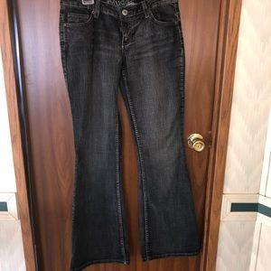 Black stonewashed denim jeans size 9